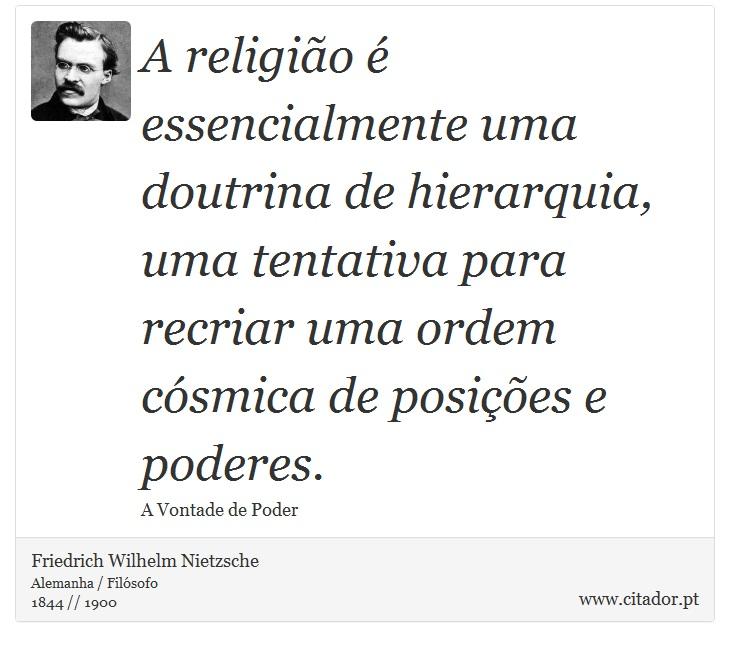 A Religião é Essencialmente Uma Doutrina De Hi