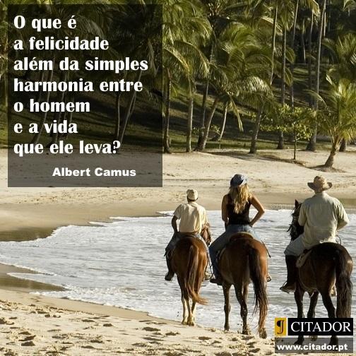 A Simples Harmonia - Albert Camus : O que é a felicidade além da simples harmonia entre o homem e a vida que ele leva?