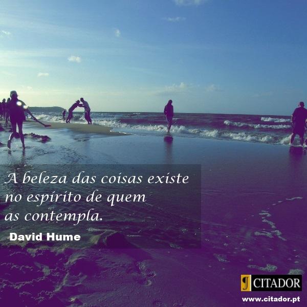 A Contemplação da Beleza - David Hume : A beleza das coisas existe no espírito de quem as contempla.