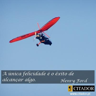 A Única Felicidade - Henry Ford : A única felicidade é o êxito de alcançar algo.