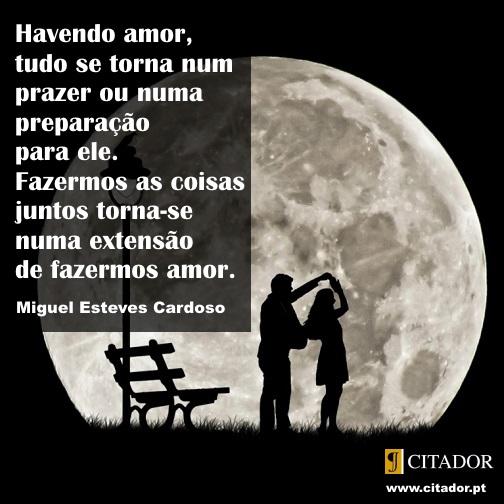 Fazermos as Coisas Juntos - Miguel Esteves Cardoso : Havendo amor, tudo se torna num prazer ou numa preparação para ele. Fazermos as coisas juntos torna-se numa extensão de fazermos amor.