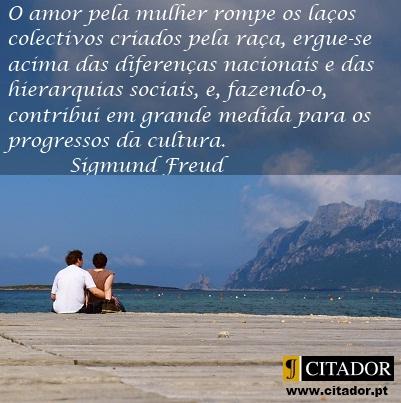 O Amor Pela Mulher Sigmund Freud Frase Inspiradora Em Imagem